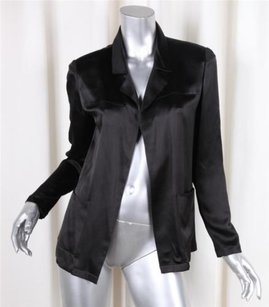 Chanel 02p Womens Silk Black Jacket