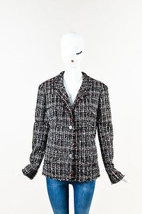 Chanel Black White Red Tweed Black, Red, White, Gray Jacket