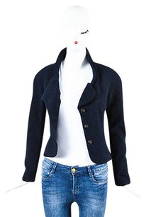 Chanel Navy Wool Silk Blue Jacket