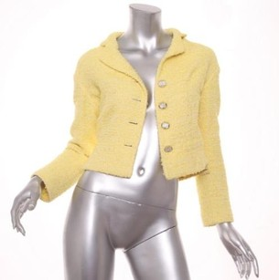 Chanel Womens Funfetti Yellow Jacket