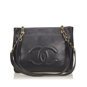 Chanel Black Caviar Leather Shoulder Bag