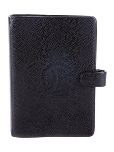 Chanel CHANEL TIMELESS CC BLACK CAVIAR SMALL RING AGENDA COVER