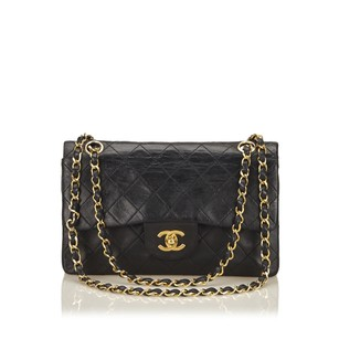 Chanel Black Lambskin Leather Shoulder Bag