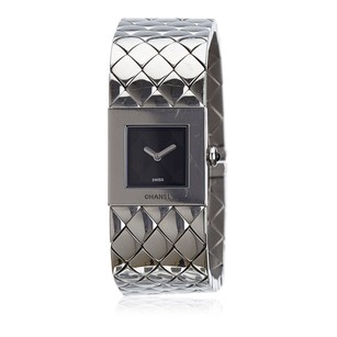 Chanel Black Metal Silver Stainless Steel 6hchwa001