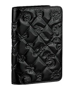 Chanel Black Patent Leather Lucky Symbols Agenda/Passport Cover