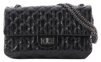 Chanel Black Reissue Striped Shoulder Bag