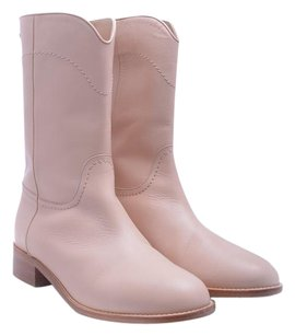 Chanel Boot Leather Cowboy Beige/Light Pink Boots