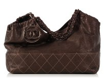 Chanel Brown Cc Ch.k1027.04 Leather Satchel