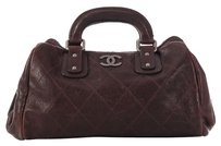 Chanel Brown Cc Quilted Ligne Ch.k0504.05 Satchel