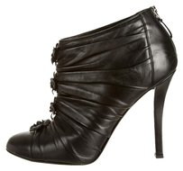 Chanel Camelia Ankle Leather Black Boots