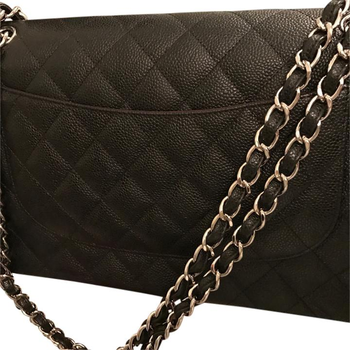Chanel caviar double flap jumbo
