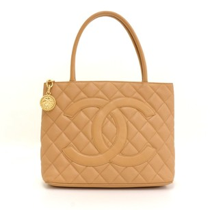 Chanel Caviar Leather Tote in beige