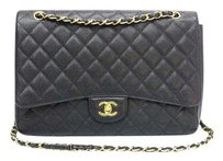 Chanel Caviar Maxi Single Flap Shoulder Bag