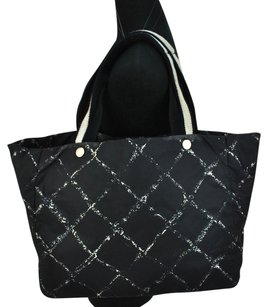 Chanel Cc Logos Travel Line Hand Tote in Black