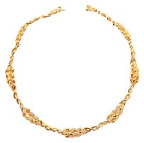Chanel Chanel 18k Gold and Diamond Vintage 1997 Wheat Necklace