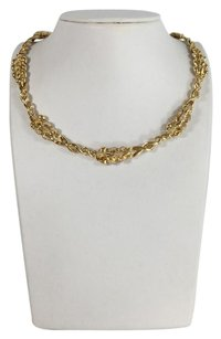 Chanel Chanel 18K Gold and Pave Diamond Wheat Necklace