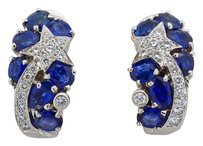 Chanel Chanel 18k White Gold, Diamond and Sapphire Comete Earrings
