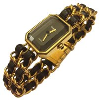 Chanel CHANEL 24kt Gold-Plated Premier Watch