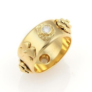 Chanel Chanel Camlia Diamonds Floral 18k Yellow Gold Band Ring -