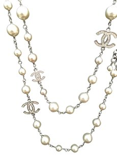Chanel Chanel CC Strauss Crystal & Pearl Necklace