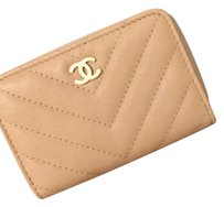Chanel Chanel chevron zippy coin purse / cardholder