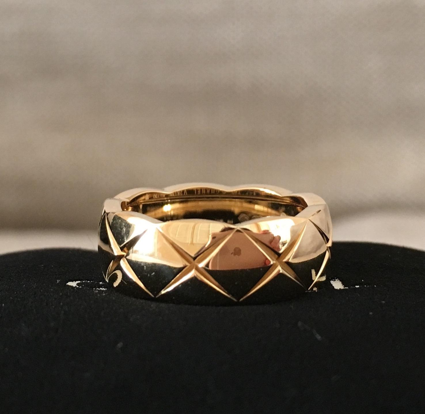 Chanel Coco Crush 18K Yellow Gold Small Ring Size 49