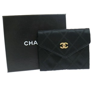 Chanel CHANEL Coin Purse Wallet Black