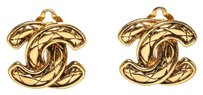 Chanel Chanel Gold Vintage CC Clip On Earrings