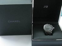 Chanel Chanel J12 Black Ceramic Midsize Automatic Unisex Watch H1626 Box