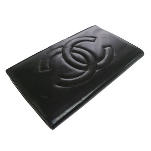 Chanel CHANEL Long Wallet Black Leather