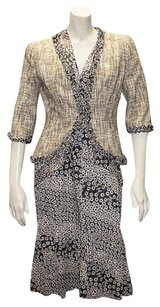 Chanel Chanel Multi Color Cotton Blend Tweed Jacket Print Dress Suit 03p Hs2207