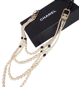 Chanel Chanel Pearl Multi Strand Necklace