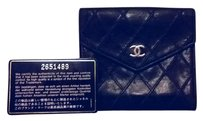 Chanel Chanel Quilted Duel Sided Caviar Leather Billfold