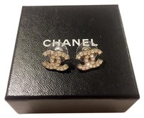 Chanel Chanel Silver Stud Earrings