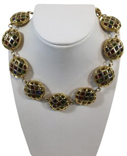Chanel Chanel Vintage Gold Cage Gripoix Bead Necklace