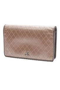 Chanel Chanel Metallic Gold Calfskin Diamond Quilt Long Wallet