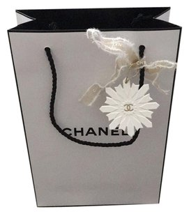 Chanel Chanel Shopping Tote Bag With Holiday Snowflake Charm And Ribbon