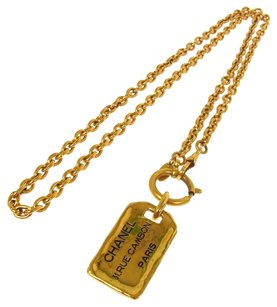 Chanel CHANELCC Logos Gold Chain Necklace France