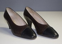 Chanel Leather Black Brown Pumps