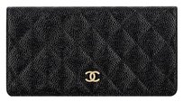 Chanel BLACK & GOLD TONE METAL Clutch