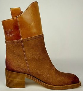 Chanel 14a Light Brown Boots