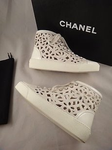 Chanel 14s Leather White Athletic