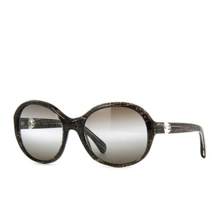 Chanel Glitter Tweed Pearl Sunglasses Black and Gray