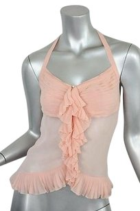 Chanel Pink Silk Chiffon Pinks Halter Top