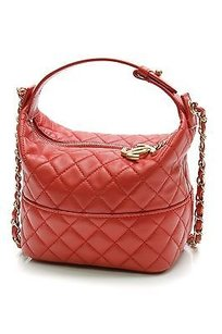 Chanel Quilted Lambskin Hobo Bag