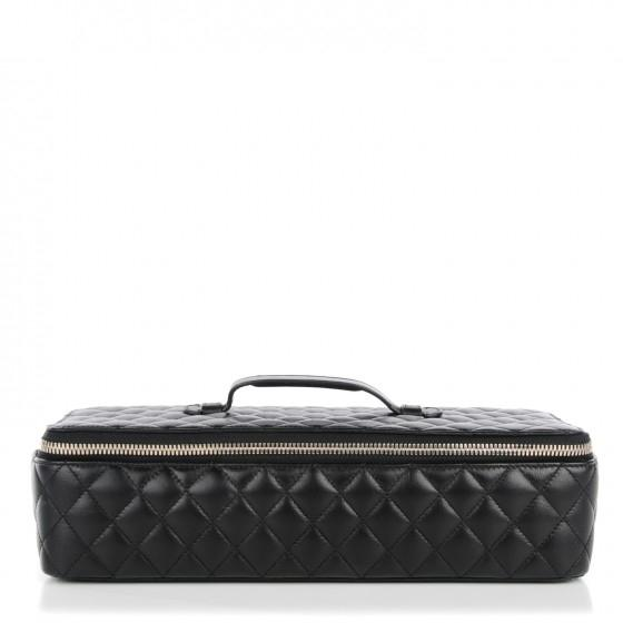 Chanel Jewelry Case Box Lambskin Leather WeekendTravel Bag Tradesy