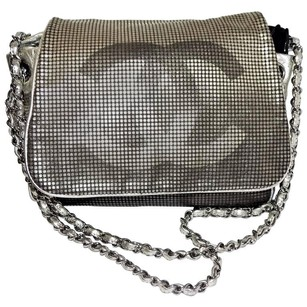Chanel Leather Metallic Perforated Chain Shoulder Bag