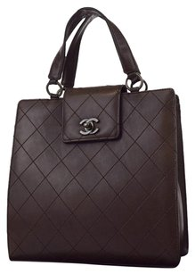 Chanel Leather Quilted Baguette