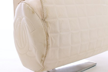 Chanel Leather Satchel in WHITE