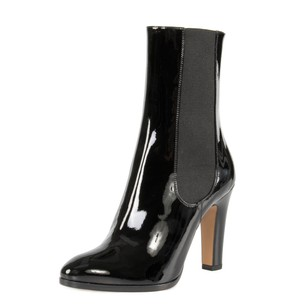 Chanel Patent Leather Stretch Patent Black Boots